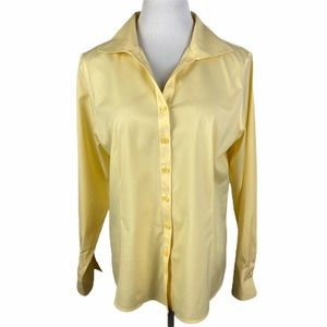 TALBOTS Petite Button Down Long Sleeve Blouse 14
